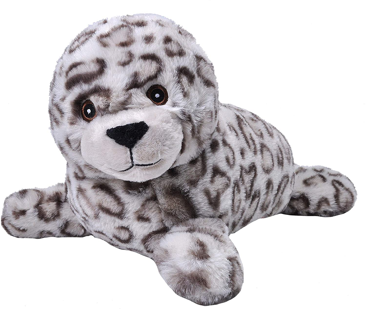 Wild Republic EcoKins Harbor Seal Pup Stuffed Animal 12 inch, Eco Friendly Gifts for Kids, Plush Toy, Handcrafted Using 16 Recycled Plastic Water Bottles