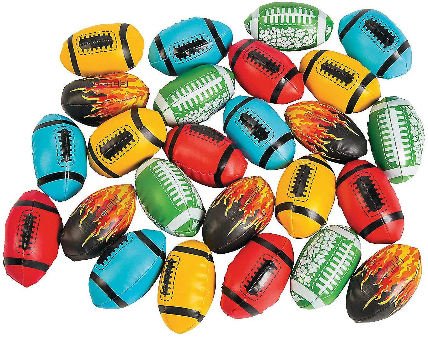 Fun Express - Football Asst (25pc) - Toys - Assortments - Misc Assortments - 25 Pieces