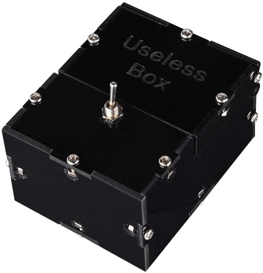 Useless Box,Mini Funny Toy Creative Gifts Useless Box DIY Parts Kit, Leave Me Alone Machine Fully Assembled Funny Toys as Gift and for Stress-Release Perfect for Home & Office Desk
