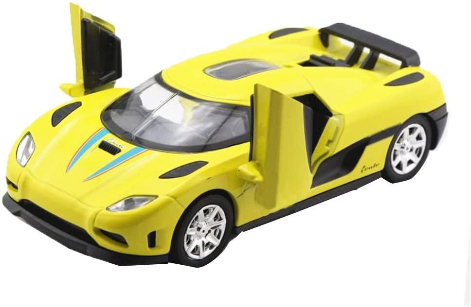 Car Toys 1:32 Koenigsegg GT Model Cars (Yellow)