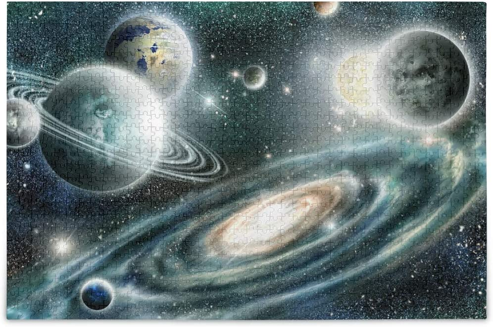 Jigsaw Puzzle Alien Planet Solar System Galaxy in Space Puzzle Game Artwork for Kids Teens Adults 500 Pieces