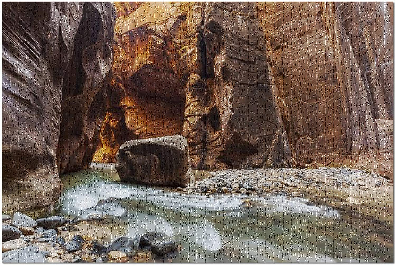 Zion National Park, Utah - The Narrows Trail 9000191 (Premium 1000 Piece Jigsaw Puzzle for Adults, 19x27)