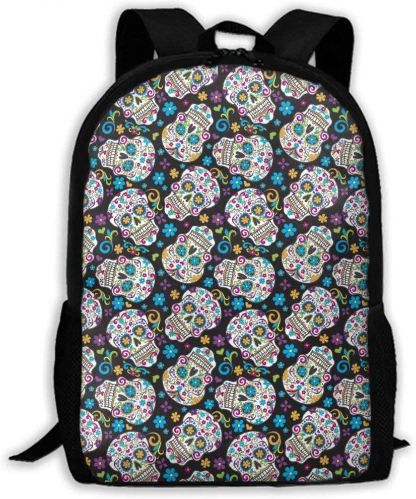 NiYoung Backpacks Sugar Skulls School Bag Travel Daypack Shoulder Bag