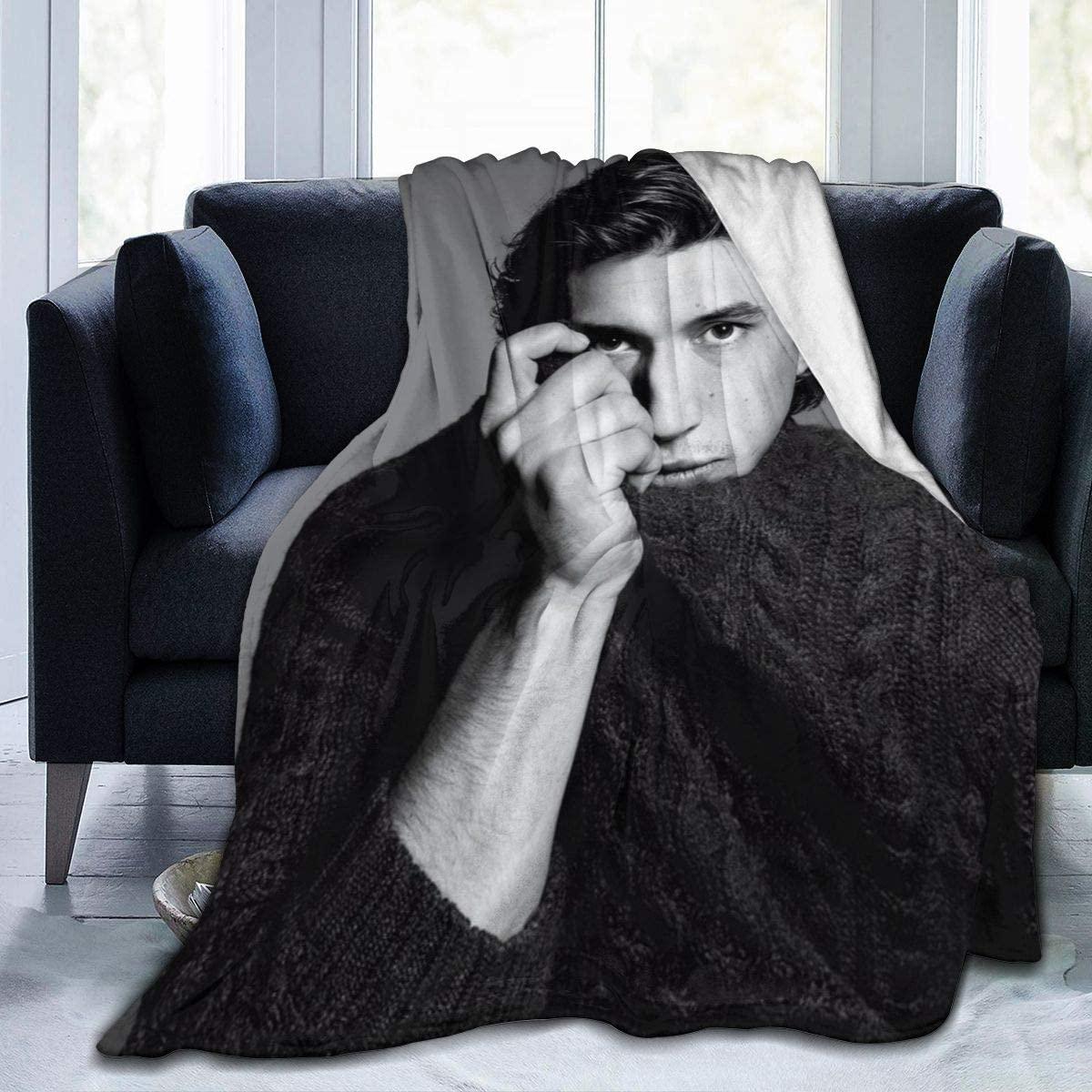 JUNIP Ultra-Soft Micro Fleece Adam Douglas Driver Blanket Lightweight Cozy Flannel Throw Blanket for Children/Adults