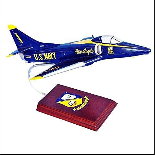 Mastercraft A-4 Skyhawk Blue Angels Scale Model 1/40 Hand carved Natural Hardwood Guaranteed Craftsmanship