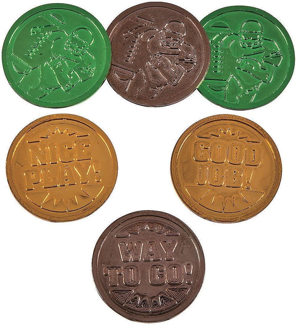 Fun Express - Football Coins (144pc) - Toys - Value Toys - Play Money - 144 Pieces