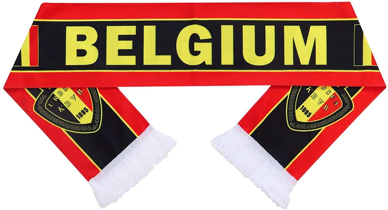 QTKJ Belgium 2018 World Cup Fans Scarf National Team Scarf Flag Banner Football Cheerleaders Scarves