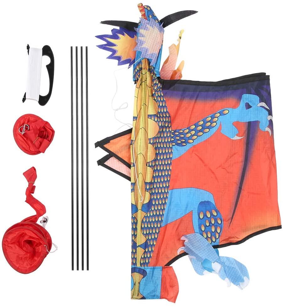 Vbest life Kid Outdoor Plane Dragon Animal Kite, High Resolution Pattern Outdoor Toy Fun Sports Kite for Beach Outdoor