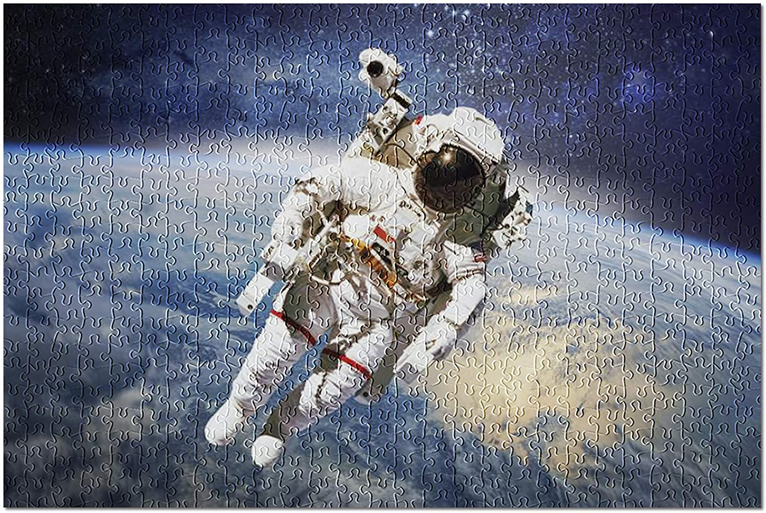 Astronaut in Outer Space with Planet Earth in The Background 9024392 (Premium 500 Piece Jigsaw Puzzle for Adults, 13x19)