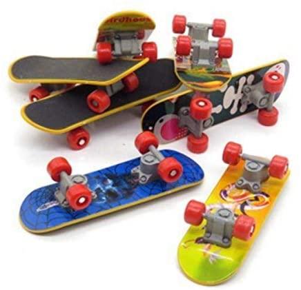 Beauy Girl 6 Pcs Professional Mini Fingerboards, Finger Skateboard, Unique Matte Surface, Random Pattern, Kids Toy Gift Party Favors