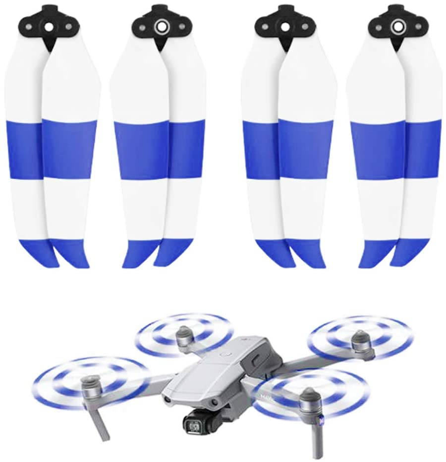 4pcs Propellers Replacement Quick-Release Blades Low-Noise Props Blue White for Mavic Air 2 Drone Quadcopter