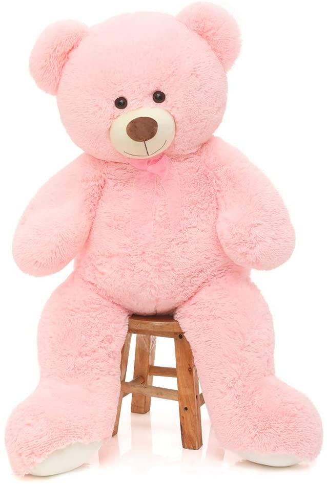 CYBIL HOME Giant Teddy Bear Soft Plush Bear Stuffed Animal for Girlfriend Kids,Pink,35 Inches