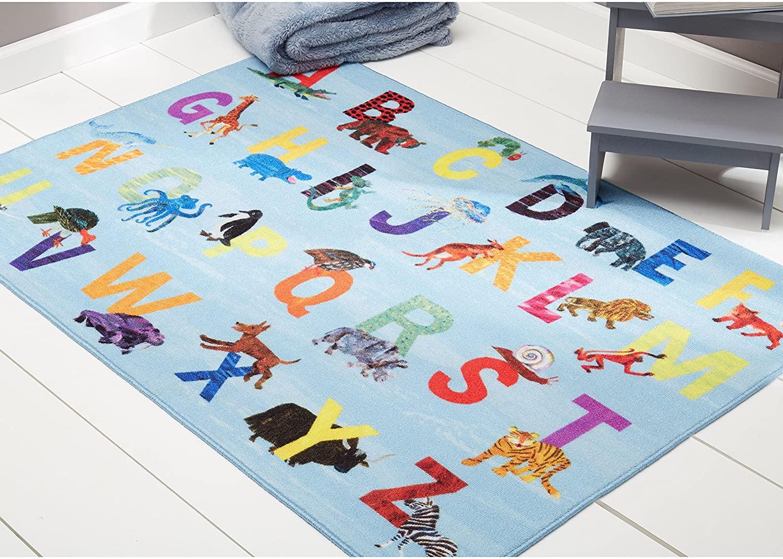 Home Dynamix Eric Carle Elementary Alphabet Educational Kids Area Rug 6'6