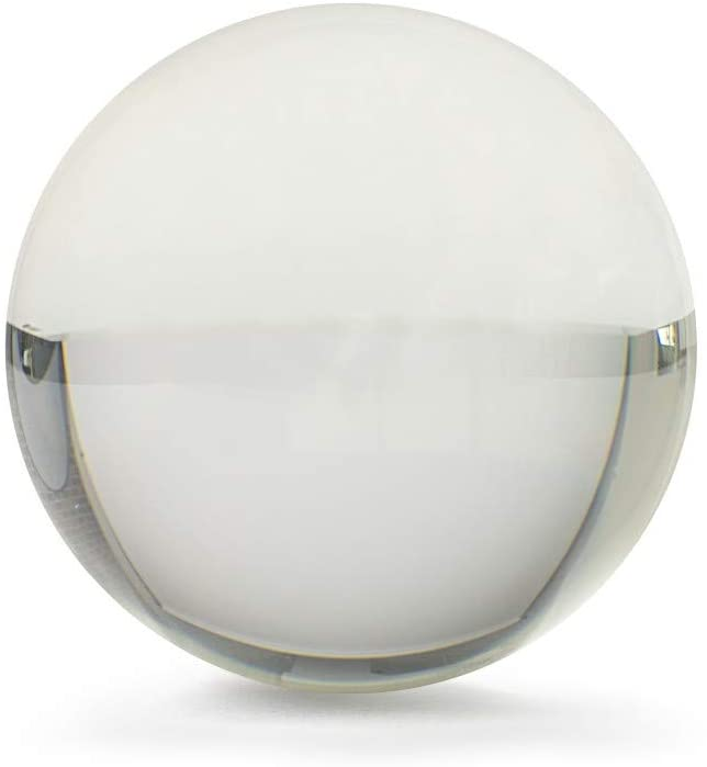 Rock Ridge 65mm Clear Acrylic Juggling Ball for Contact Juggling | Great for Beginners and Professionals