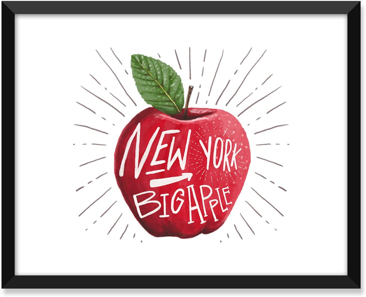 Serif Design Studios Big Apple New York Watercolor, Inspiration Quote, Funny, Adult, Minimalist Poster, Home Decor, College Dorm Room Decorations, Wall Art