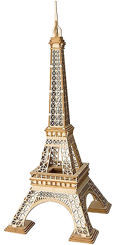 Robotime Eiffel Tower 3D Model Puzzle Kit – 122 Pieces