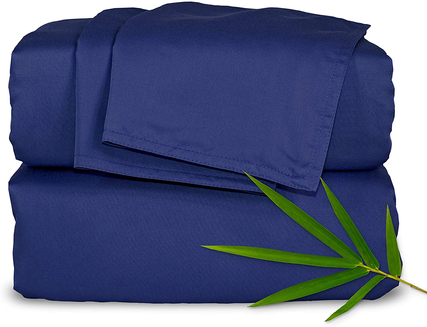 Pure Bamboo Sheets Full Size Bed Sheets 4 Piece Set, 100% Organic Bamboo, Luxuriously Soft & Cooling, Double Stitching, 16