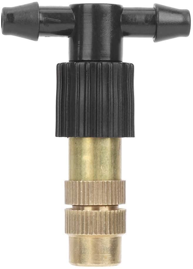 DERCLIVE Adjustable Brass Sprinkler, Fog Watering Irrigation Sprinkler (10Pcs)