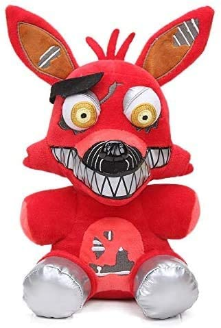 FNAF Plushies - Full Model - 7 Inch - Five Nights at Freddys Plush Toys : Freddy, Bear, Foxy, Chica, Bonnie - Stuffed Toys Dolls - Kids Gifts - Gifts for FNAF Fans ( Red Foxy )    US Stock