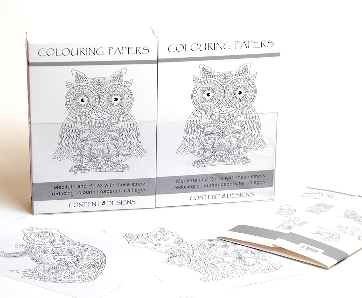 Unbranded Adult Colouring Paper Pages Pattern Anti Stress Therapy Wildlife Designs