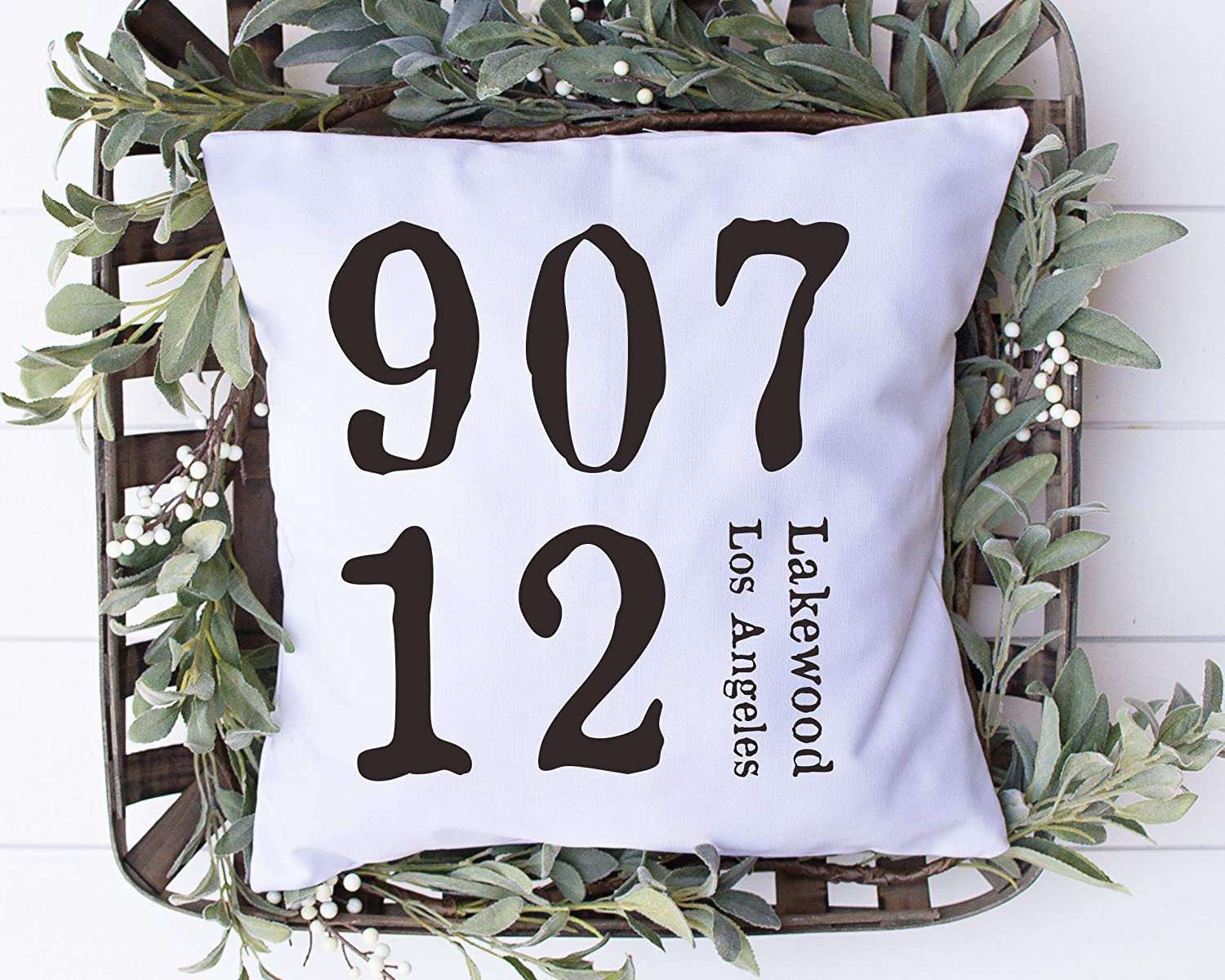Flowershave357 Personalized Zip Code Pillow Address PillowHouse Warming Gift for New Home Wedding GiftHome Decor Monogrammed Gift Custom Throw Pillow