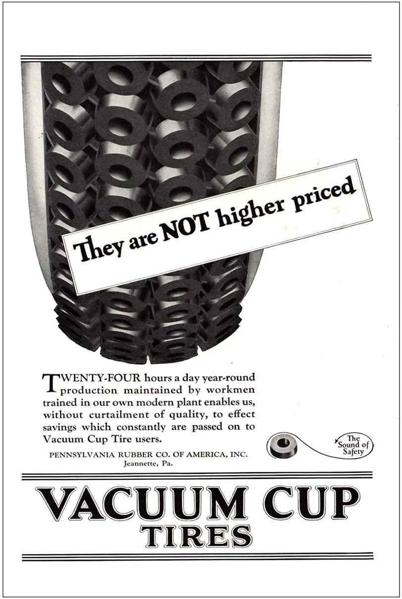 RelicPaper 1923 Pennsylvania Rubber: Vacuum Cup Tires, Pennsylvania Rubber Print Ad