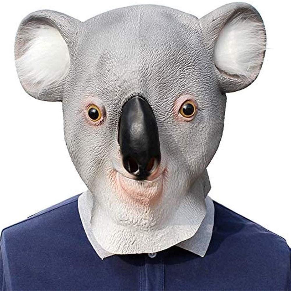 Cfdias Dhm-wsjmianj Halloween Mask, Terrorist Full Face Mask, Halloween Tree Bag Mask, Funny Koala Bear Head Animal Play Props, Suitable for All Kinds of Festivals Halloween Scary mask Adult