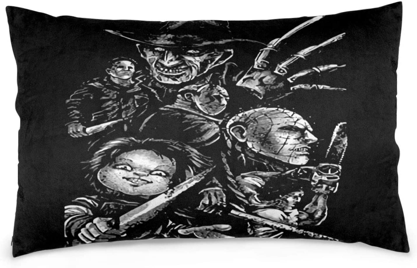Dawiine Pennywise Michael Myers Halloween Decor Pillowcases Pillow Protectors Pillow Cases Bedroom Home Car Decor