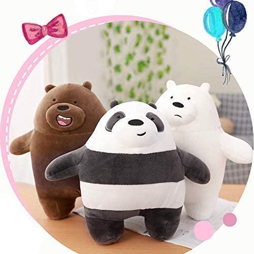YUNZHI Plush Toys, Plush Toys 3Pcs 10.5 Inch We are Bare Bears Plush Stuffed Grizzly Bear Stuffed Doll Gray White Bear Panda Toys Kids Birthday Gift