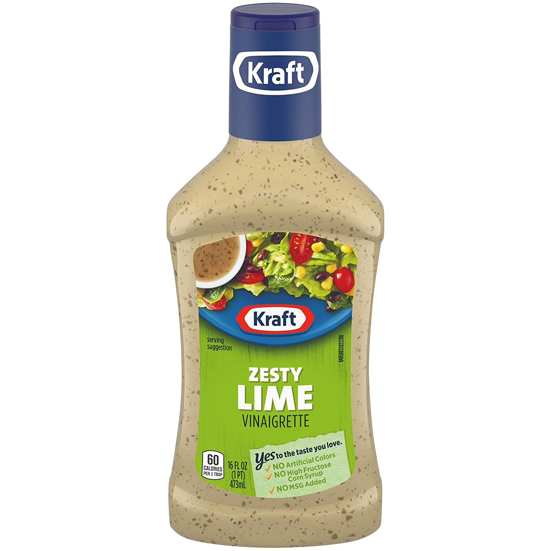 Kraft Salad Dressing, Zesty Lime Vinaigrette, 16 oz