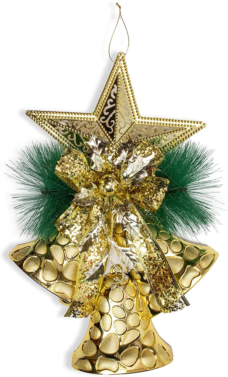 Gold Bell Christmas Tree Ornaments (11 x 17 Inches)
