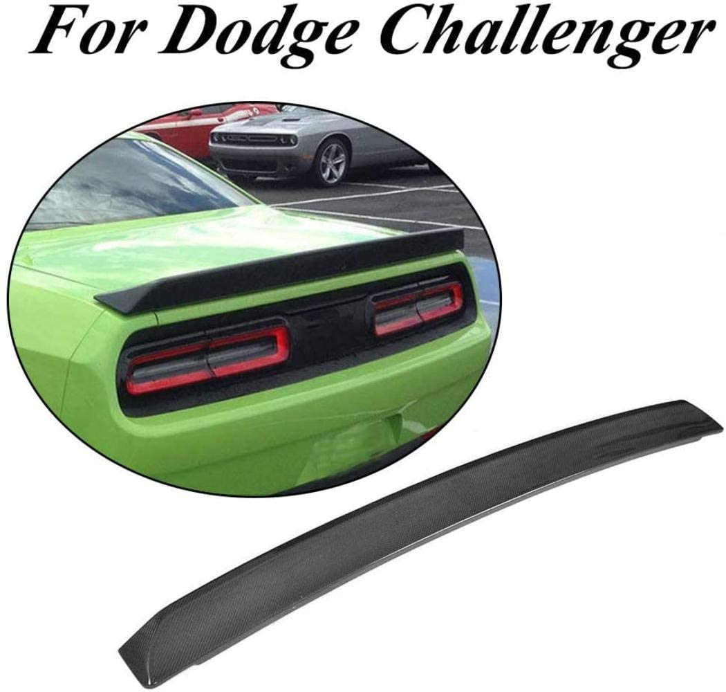 NB-LY fits for Dodge Challenger Rear Trunk Tail Lip Spoiler Wing 2008-2018 (Carbon Fiber)