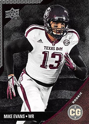 Mike Evans Football Card (Texas A&M Aggies) 2014 Upper Deck Conference Greats Silver #137 Rookie