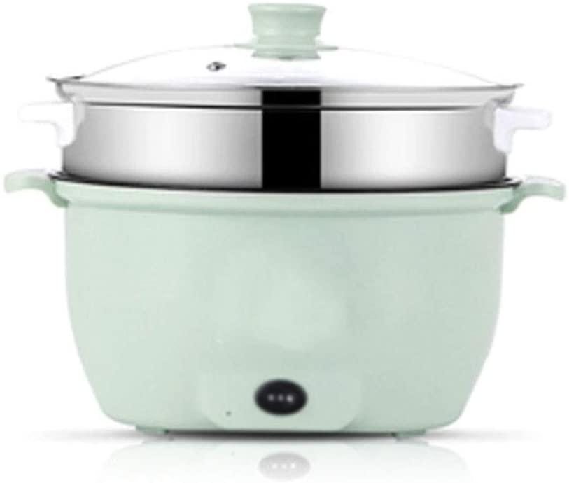 SUNZHEN-dianfanguo Rice Cooker, 1.5L Portable Electric Cooker Multifunction Hot Pot Noodles Rice Eggs Soup Steamer Rice Cooker Non-stick liner (Color : 2)