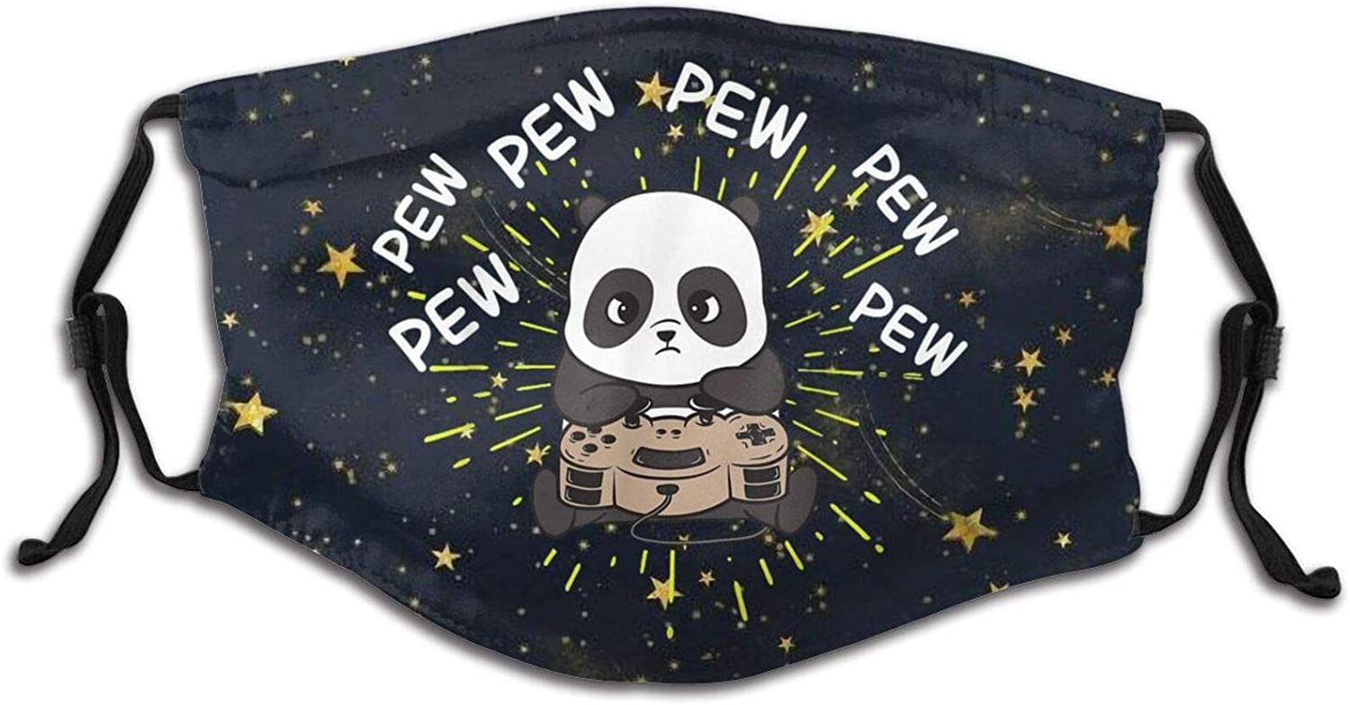 Gaming Panda Child Dust Mask Breathable Mouth Face Cover Mouth Scarf
