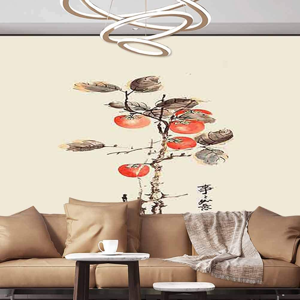 Albert Lindsay Backdrop Wallpaper Mural Chinvintage Ink Vintage Hand Drawn Style Self-Adhesive Wallpaper,135x106 inches/343x270 cm,for Office Nursery School Family Decor Playroom Birthday Gift