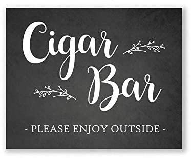 Lplpol Cigar Bar Sign Chalkboard Style Wedding Sign Party 20