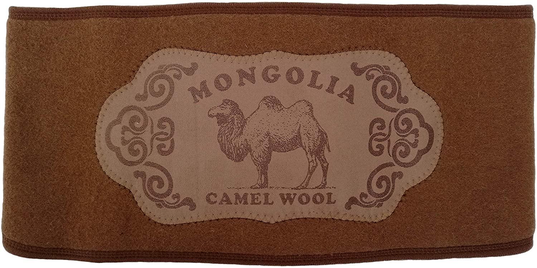 Men Women Belt Felted Warm Soft 100% Camel Wool Brown Arthritis Neuralgia Rheumatism,1 Piece.Made in Mongolia. (60)