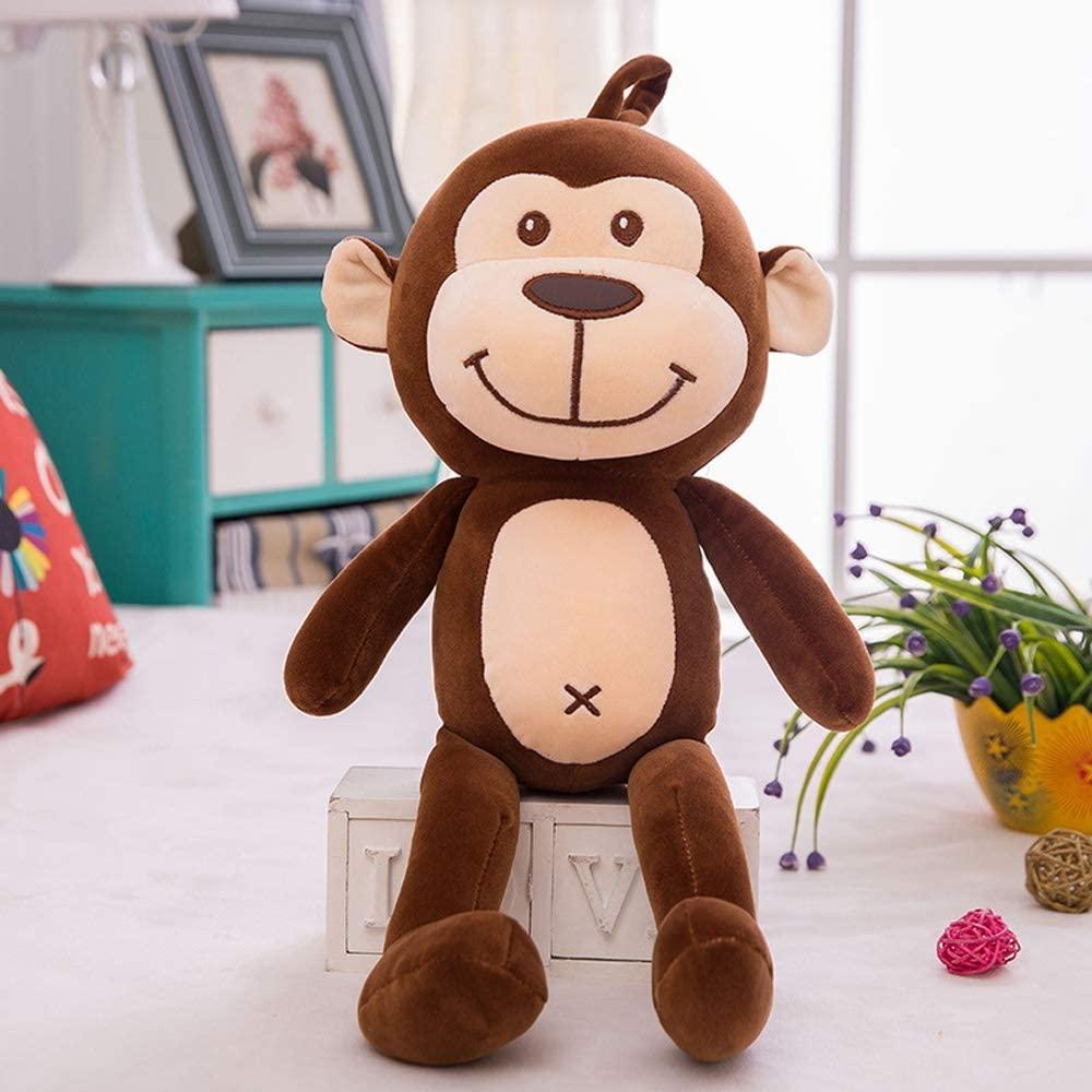 WASS6 Cute Monkey Soft Plush Toy Stuffed Animal Doll Soft Monkey Animal Plush Toy Stuffed Animal Toy Pillow Stuffed Kid Doll Plush Adorable Toy (Size : 50CM )