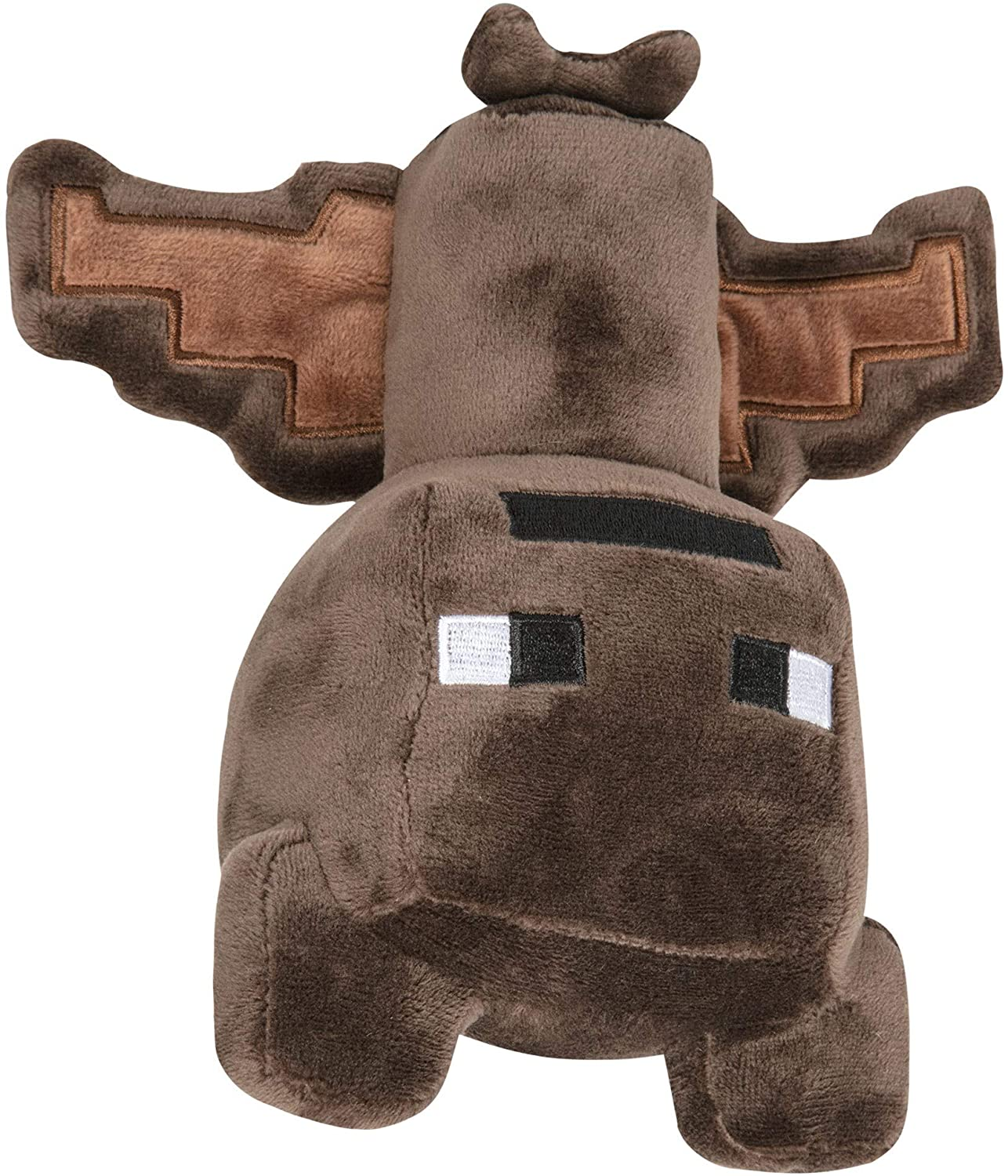 JINX Minecraft Happy Explorer Bat Plush Stuffed Toy, Brown, 7