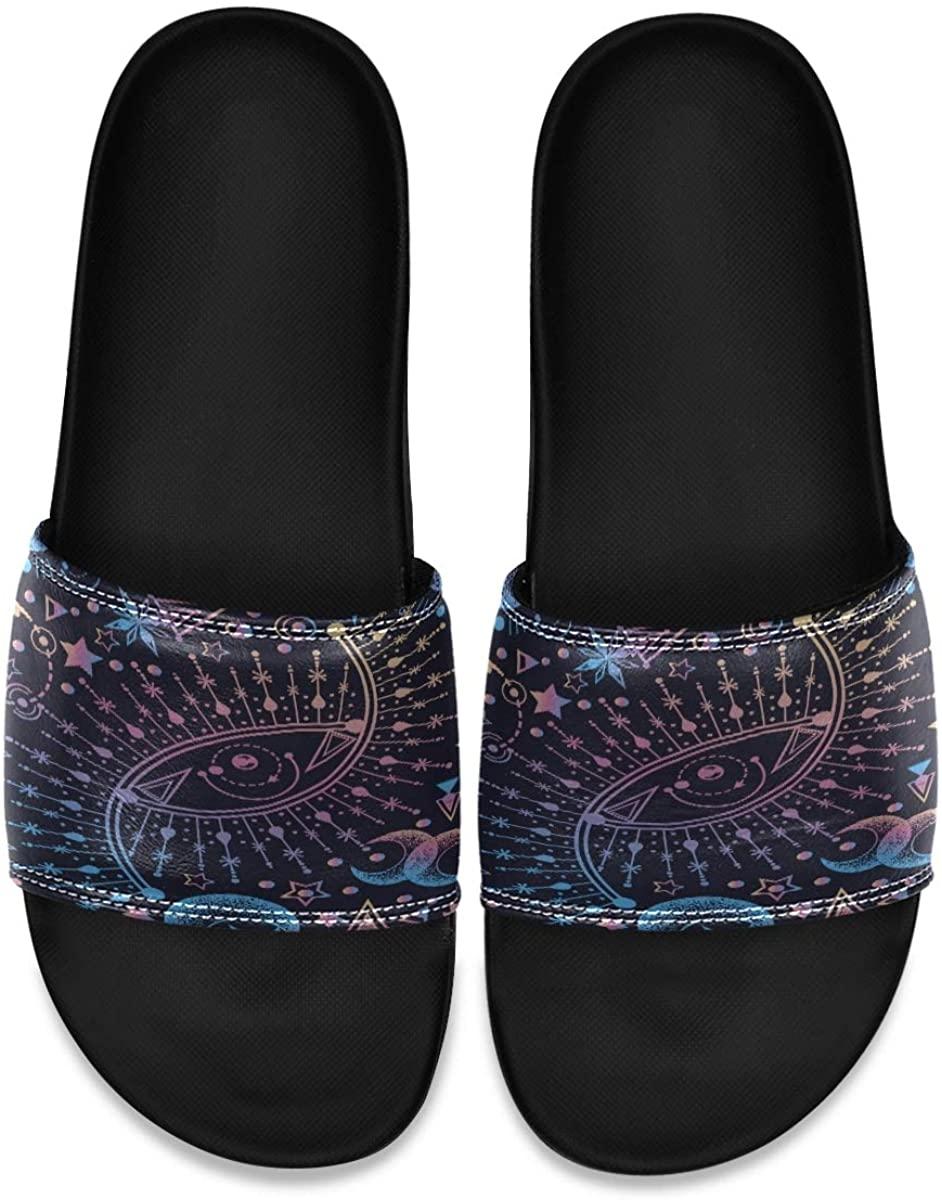 Ladninag Math Formula Education Circle Mens Indoor Outdoor Bedroom Slippers Adjustable Sandals
