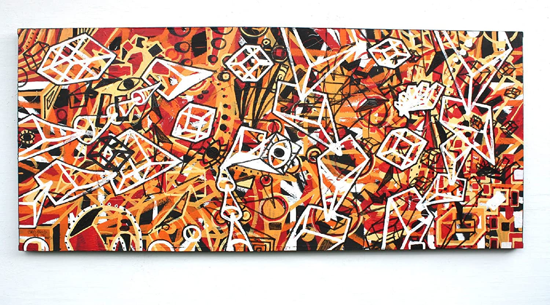 CHRIS RIGGS Original abstract fine art painting 72