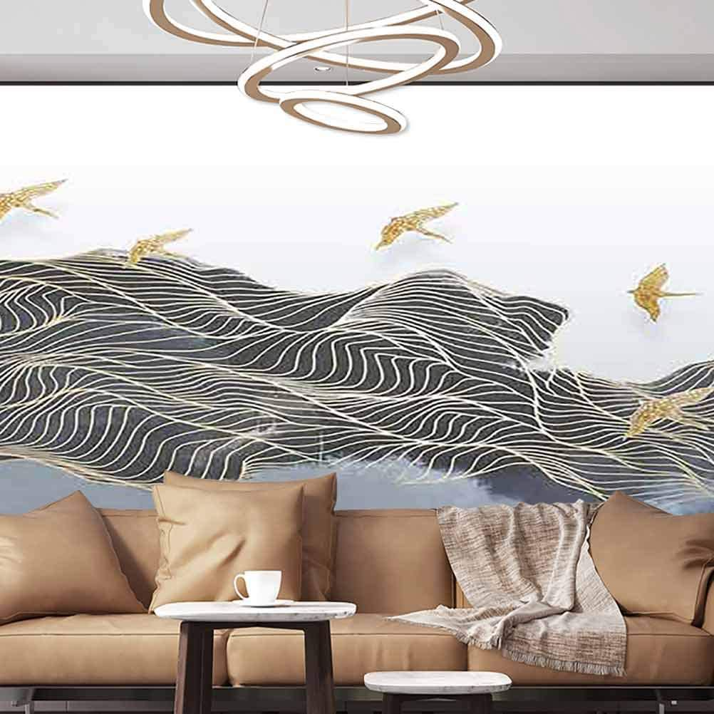 Albert Lindsay Backdrop Wall Stickers Murals Color Abstract Art Style Self-Adhesive Wallpaper,135x106/343x270 cm,Wall Stickers for Office Livingroom Family Wall Decor