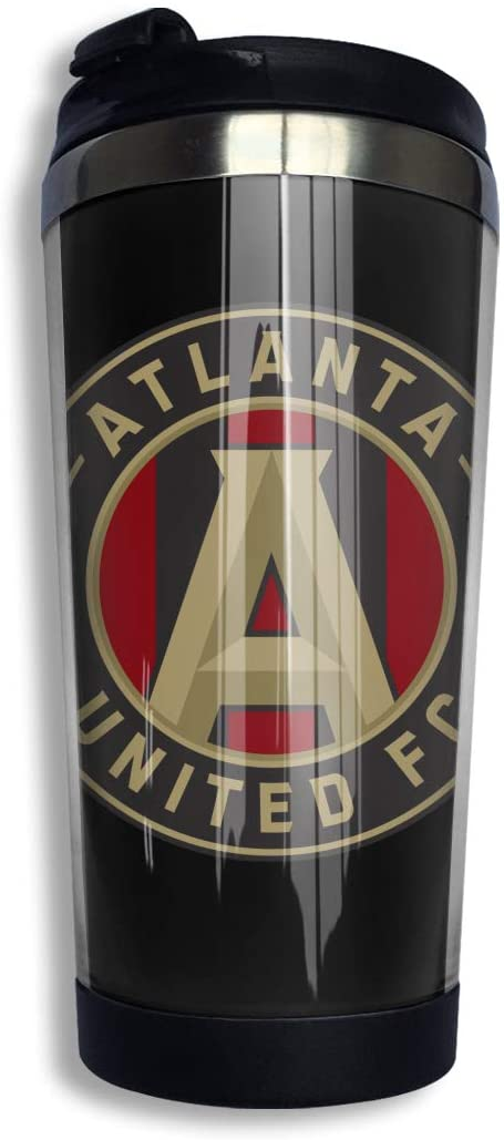 N/D Atlanta United Logo Stainless Steel Vacuum Insulated Double Wall Travel Tumbler, Durable Insulated Coffee Mug Stainless Steel Coffee Cup