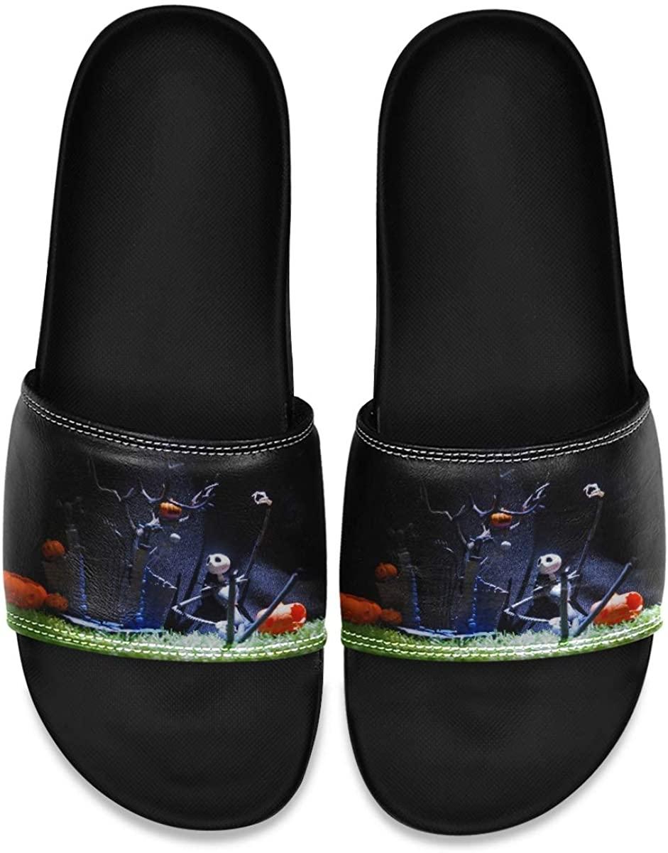 Ladninag Jellyfish Colorful Mens Indoor Outdoor Bedroom Slippers Adjustable Sandals