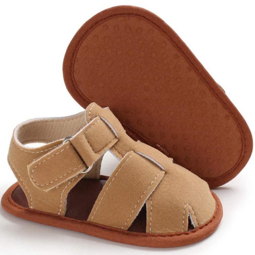 Baby Boys Summer Sandals Toddler Infant Girls Rubber Sole First Walker Shoes,Summer Boys Soft Sandals Infant Shoes 0-18 Month (0-6Months, QC)