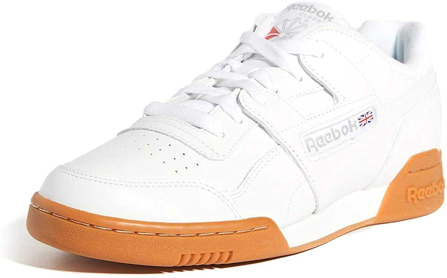 Reebok Mens Workout Plus Cross Trainer, White/Carbon/Classic red, 9 M US