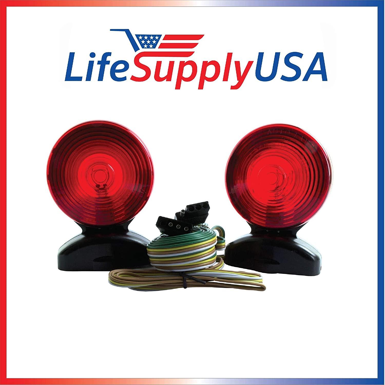 LifeSupplyUSA 12 case 12v Volt Magnetic Towing Trailer Light Tail Light Haul Kit Complete Set Auto, Boat, RV, Trailer, etc.