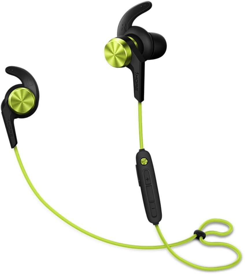 LANMEI Wireless Bluetooth Headset in-Ear Ear-Mounted Running Music earplugs,Green