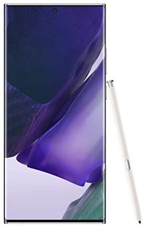 Samsung Galaxy Note 20 Ultra 5G Factory Unlocked Android Cell Phone   US Version   128GB of Storage   Mobile Gaming Smartphone   Long-Lasting Battery   Mystic White w/Verizon Gift Card